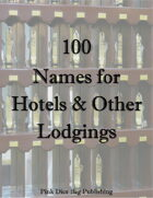 100 Names for Hotels and Other Lodgings