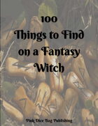 100 Things to Find On a Fantasy Witch