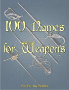 100 Names for Weapons