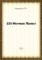 Gregorius21778: 132 German names