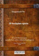 Gregorius21778: 20 bookplate spirits