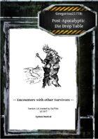 Gregorius21778: Post-Apocalyptic Die Drop Table