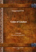 Gregorius21778: Codes of Conduct