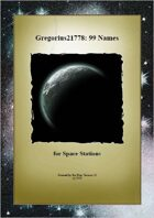 Gregorius21778: 99 Names for Space Stations