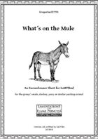 Gregorius21778: What is on the mule