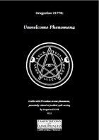 Gregorius21778: Unwelcome Phenomena