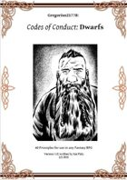 Gregorius21778: Codes of Conduct: Dwarfs