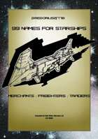 Gregorius21778: 99 Names for Starships: Merchants / Freighters / Traders