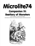 Microlite74 Companion IV: Bestiary of Monsters