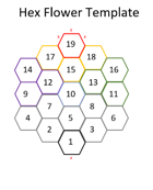 Hex Flower Template