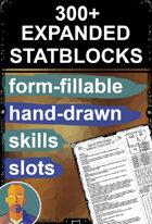 Expanded Stat Blocks 5E