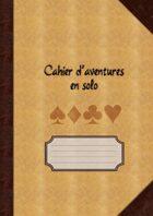 Cahier d'aventures en solo (pages lignées)