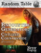 Encounter Generator - Civilized Countryside (Fantasy)