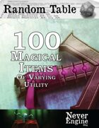 100 Magical Items of Varying Utility