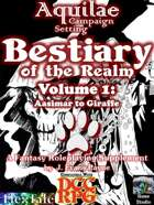 Aquilae: Bestiary of the Realm: Volume 1 (Dungeon Crawl Classics/DCC)