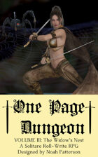 One Page Dungeon: Volume 3: The Widow's Nest