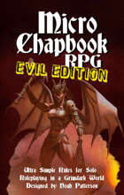 Micro Chapbook RPG: EVIL EDITION