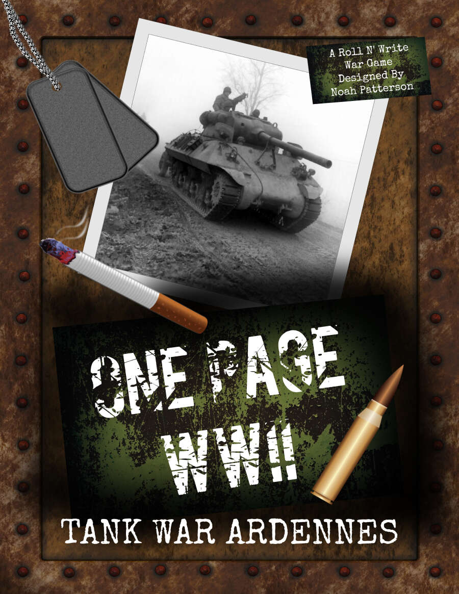One Page WWII: Tank War Ardennes