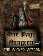 One Page Dungeon: The Wicked Wizard