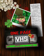 One Page VHS: The Night in the Leprechaun's Tree