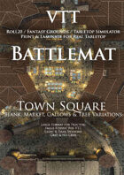 VTT Battlemap - Town Square Map