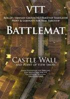 VTT Battlemap - Castle Wall