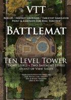 VTT Battlemap - Ten Level Tower