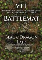 VTT Battlemap - Black Dragon Lair