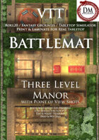VTT Battlemap - Three Level Manor House (Must Have!!)