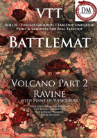 VTT Battlemap -  Volcano Part 2: Ravine