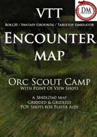 VTT Encounter Map - Orc Scout Camp