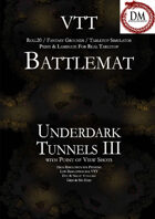 VTT Battlemap - Underdark Tunnels III