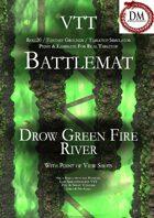 VTT Battlemap - Drow Green Fire River
