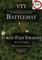 VTT Battlemap - Straight Forest Path