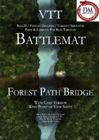 VTT Battlemap - Forest Path Bridge