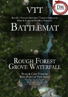 VTT Battlemap - Rough Forest Grove Waterfall