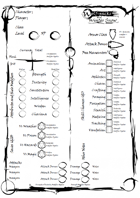 Wolf-packs and Winter Snow Character Sheet (editable PDF)