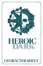 Heroic Dark Character Sheet