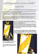 The Golden D6 #1 – Painting Custom Space Marine Banners