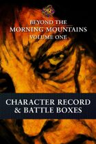 Beyond the Morning Mountains Vol.1: Character Record & Battle Boxes