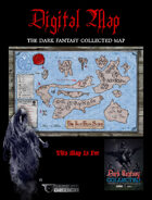 "DIGITAL POSTER MAP - DARK FANTASY COLLECTED - 18"" x 12"" in 4 Parts"