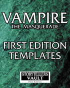 Vampire the Masquerade 1st Edition Templates