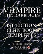 Vampire: The Dark Ages First Edition Clanbook Templates
