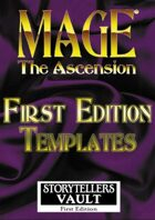 Mage: The Ascension 1st Edition Templates