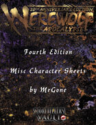 MrGone's Werewolf The Apocalypse Fourth Edition Misc Character Sheets