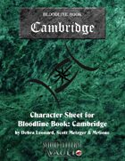 MrGone\'s Bloodline Cambridge Character Sheets