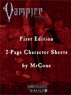 MrGone's Vampire the Requiem First Edition 2-Page Character Sheets