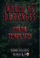 World of Darkness Color Templates