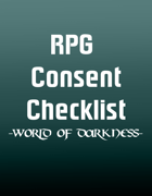 World of Darkness RPG Consent Checklist (A4)