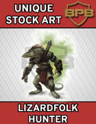 Unique Stock Art - Lizardfolk Hunter